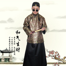 New arrival costume film and television clothes Formal  Men's Vintage chinese style tang suit  clothes embroidery robe