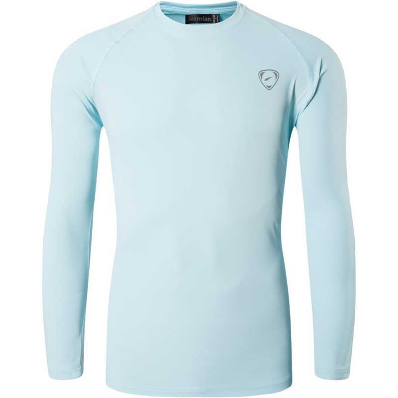 Jeansian upf 50 + uv proteção solar dos homens ao ar livre manga longa camiseta camiseta camiseta praia verão la245 navy2