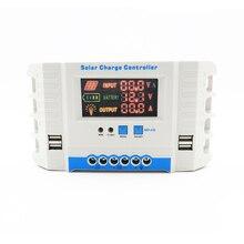 60A 50A 40A 30A 20A 10A 24V 12V regolatore di carica batteria pannello solare automatico PWM Display LCD regolatore collettore solare USB due