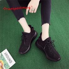 OrientPostMark Women Casual Sneakers Shoes Breathable Handmade Sneaker Walking Female Flats Comfortable LightWeight