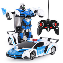 Mini RC Car Remote Controlled Toy Transformation Robots Kids Battery Powered Cars