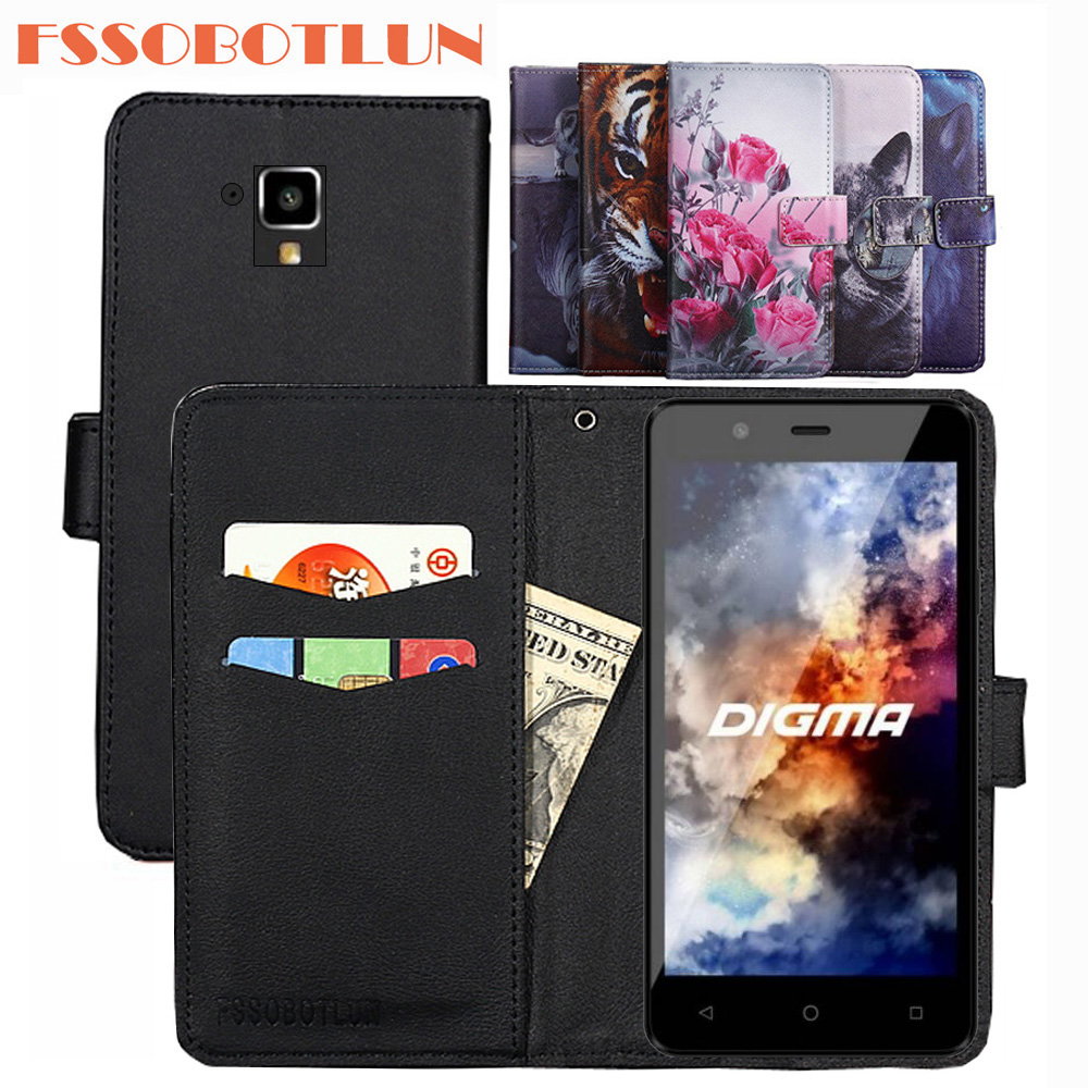 FSSOBOTLUN For Digma <font><b>Linx</b></font> <font><b>A501</b></font> 4G Case PU Leather Retro Flip Cover Shell Magnetic Wallet Cases Kickstand Strap Digma <font><b>A501</b></font> 4G image