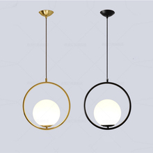 Nordic modern style minimalist iron pendant light E27 glass ball pendant lamp, Home restaurant decoration lighting pendant light for restaurant 5 8 heads beanstalk dna molecules vintage pendant lamp nordic iron pendant lighting glass shades