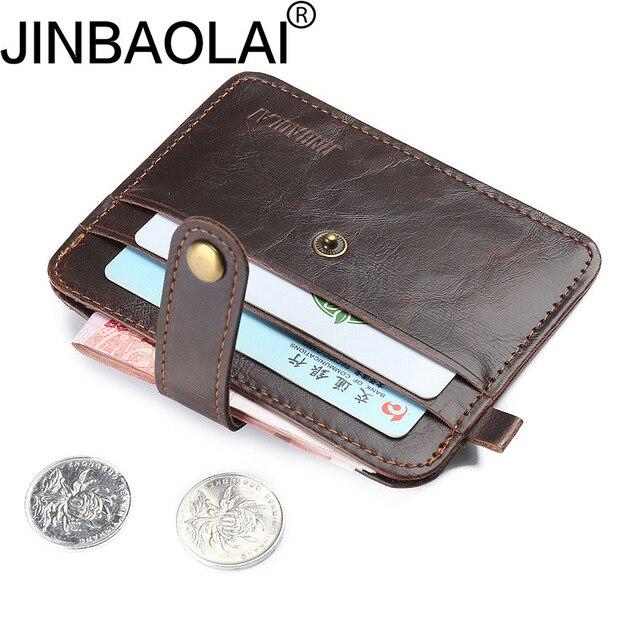 Carteira titular do cartão Dos Homens Titular Do Cartão de Crédito Mini Carteira Portátil Simples PU Couro Caso ID Titulares de Cartões de Bolsa Saco Bolsa Do Vintage