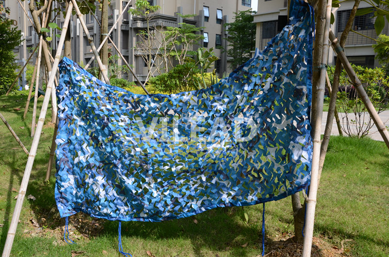 VILEAD 3.5M*7M Camo Netting Blue Camouflage Netting Camo Tarp Car Cover Roof Decoration Beach Tent Silicone Tarp Camping Shade vilead 3m 7m military camouflage netting camouflage hunting tarps camping sun shade camo tarp army tarp event shelter car covers
