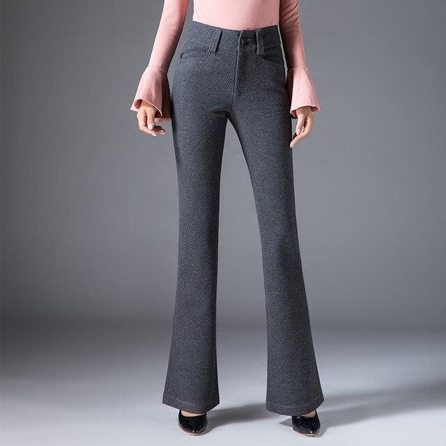 07d58f9aca Autumn Winter Woolen Wide Leg Pants 2019 New Thick Trousers Women'S High  Waist Plus Size Women'S Clothing Casual Ds50216
