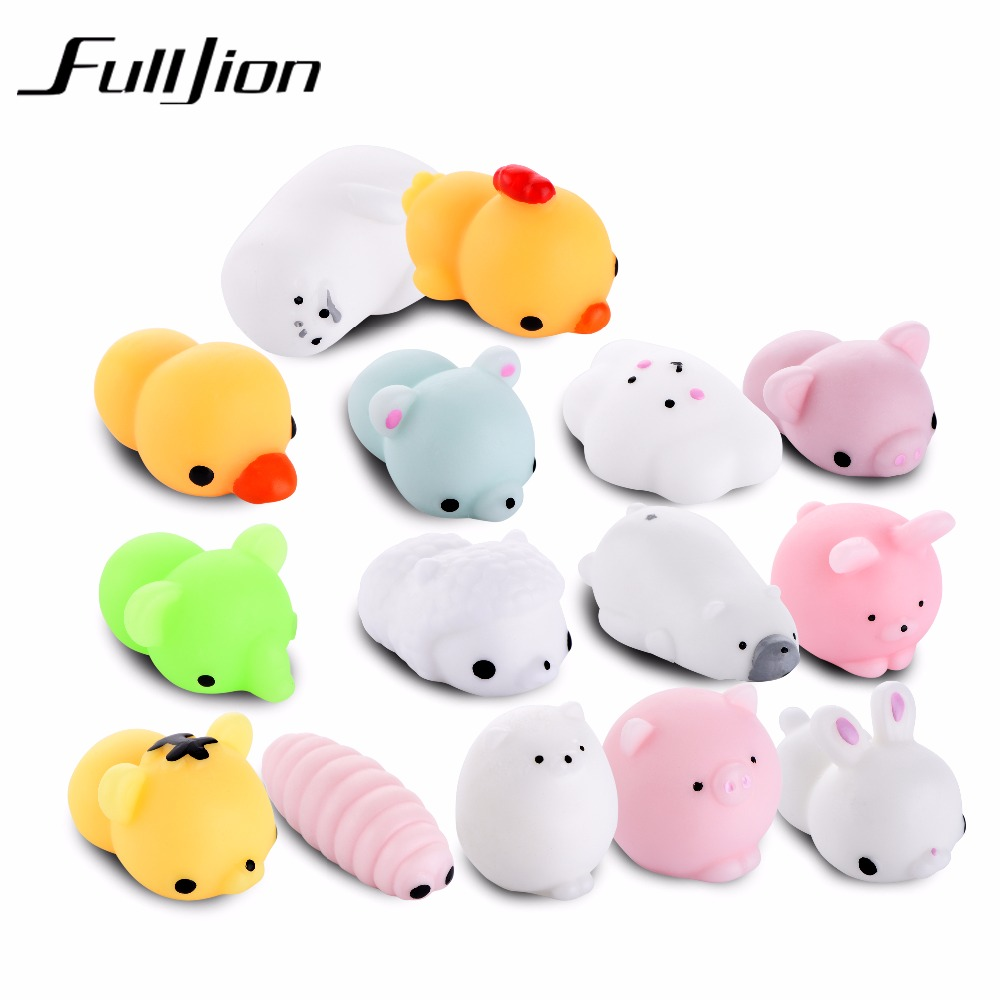 Fulljion Squishy Cat Mochi Antistress Toys Kawaii Stress Relief Cute Funny Animals Squeeze ...