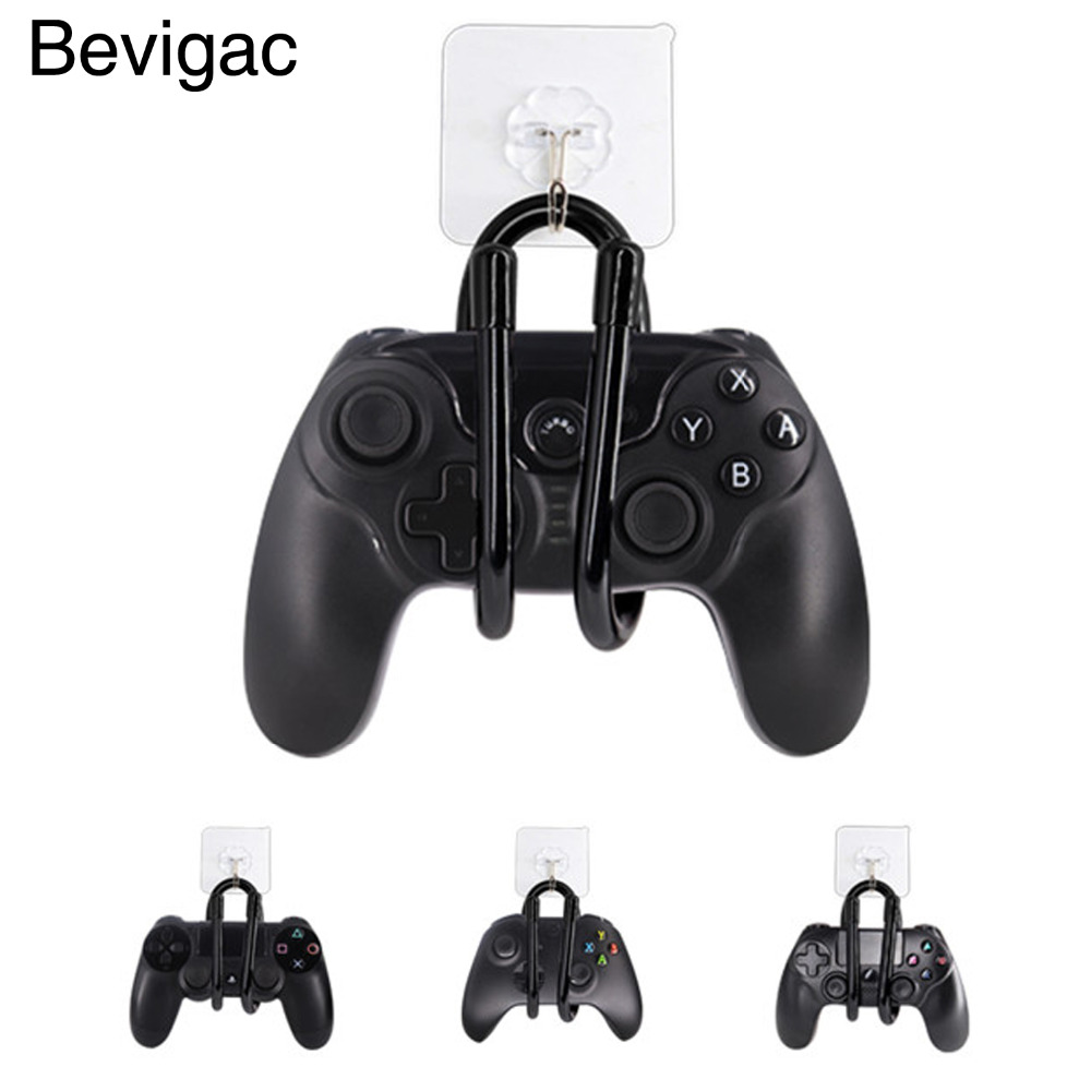 Bevigac 2pcs Universal Adjustable <font><b>Wall</b></font> <font><b>Mount</b></font> Rack Clip Hanger Hooks for Xbox One <font><b>PS4</b></font> Nintendo Nintend Switch Controller Headset image