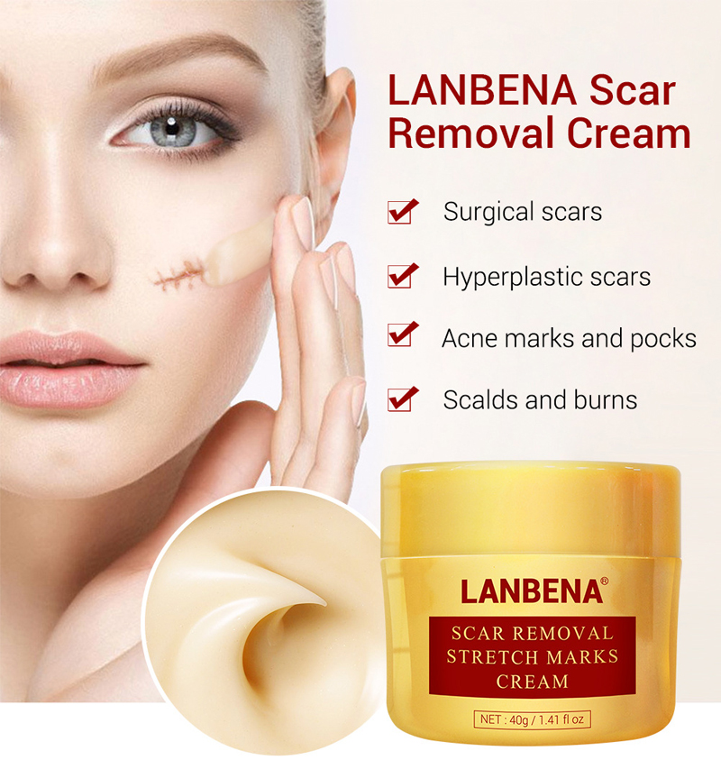 LANBENA Brand 40g Scar Removal Stretch Marks Cream Natural Herbal Anti Acne Pocks Treatment