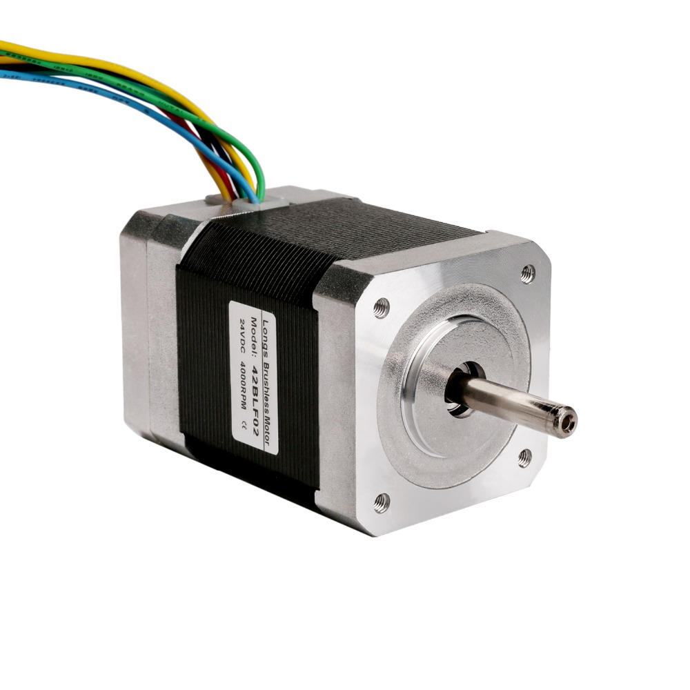 42BLF02 Brushless DC Motor 52W 24V Nema17 4000RPM CNC Router Plasma Medical LONGS MOTOR42BLF02 Brushless DC Motor 52W 24V Nema17 4000RPM CNC Router Plasma Medical LONGS MOTOR