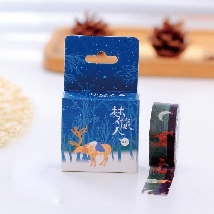 1 Box Deer In Traum Klebstoff Japanischen Deco Washi Klebeband ...