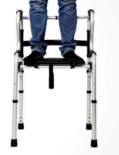 Le vieil homme pour dispositif de ligne/alliage d'aluminium aider étape, quatre pieds bâton de marche pour handicapés/avc réhabilitation poulie