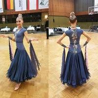Modern Waltz Tango Ballroom Dance Dress, Smooth Ballroom Dress, Standard Ballroom Dress ,Short sleeved Slim dance dress