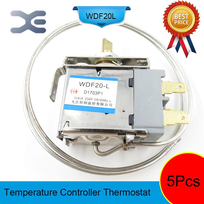 5Pcs Thermostat Frigo Refrigerator Spare Parts Thermostat Repairing Refrigerators WDF20-L 250V цена