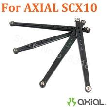 For AXIAL SCX10 Wrangler РТР Алюминиевый Задний Нижние и Верхние ссылки Детали Длина 122 мм и 130 мм AX80043 1/10 Rock Crawler 4WD