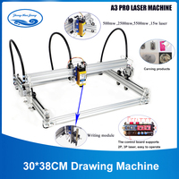 15W Laser DIY Handwriting Machine 30*38CM Drawing Machine Lettering Robot Kit A3 Mini Laser Engraving Machine Wood Router