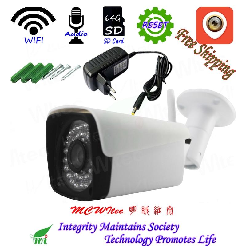 US $27 99 44% OFF|Mini P2P Alarm IP Cam Night view IR CCTV 128G SD Card  RTSP Outdoor Reset XM Audio WIFI IPC 1080P 720P Security Camera bracket -in