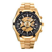 MCE Watch Men Skeleton Automatic Mechanical Gold Vintage Man Mens Sports Top Brand Luxury
