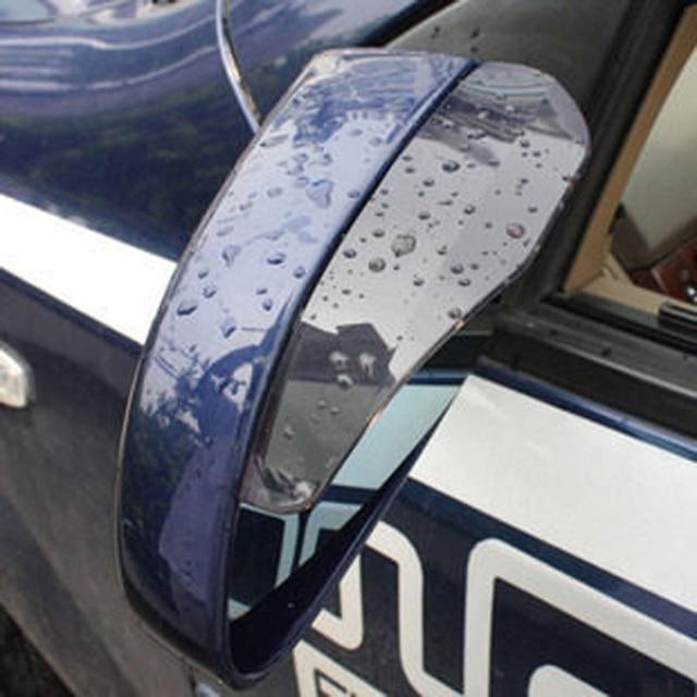 VODOOL 2Pcs PVC Car Rear View Mirror Sticker Rain Eyebrow Auto Side Mirror Rain Board Shield Sunshade Snow Guard Protector Cover