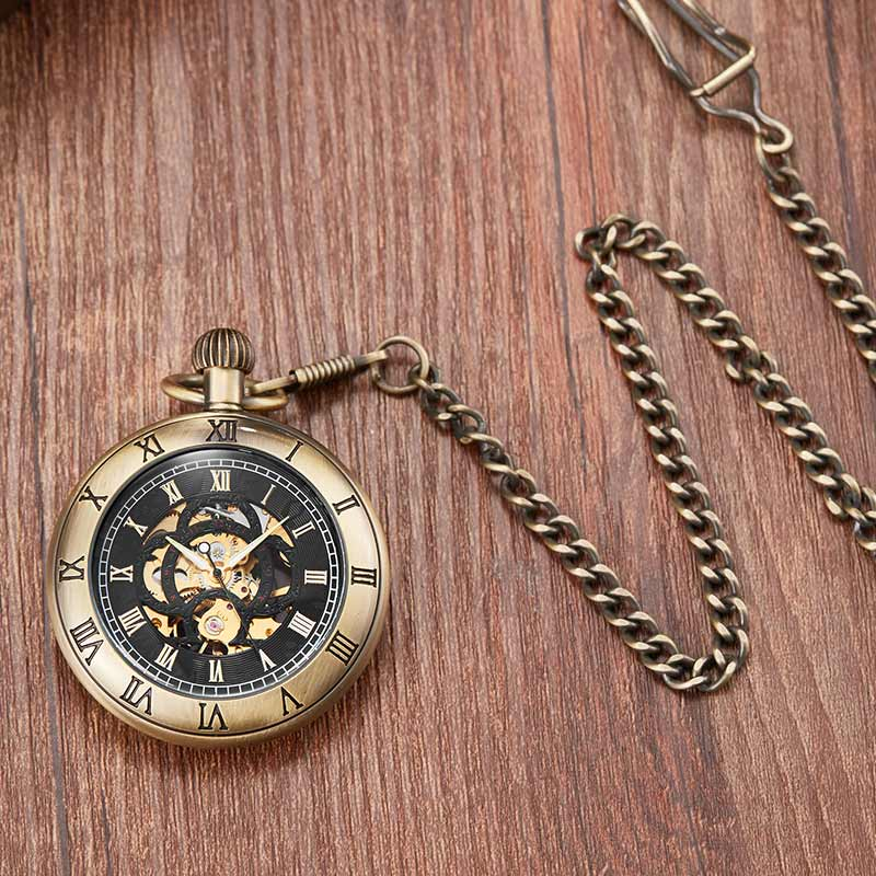 retro relógios de bolso mecânico com corrente