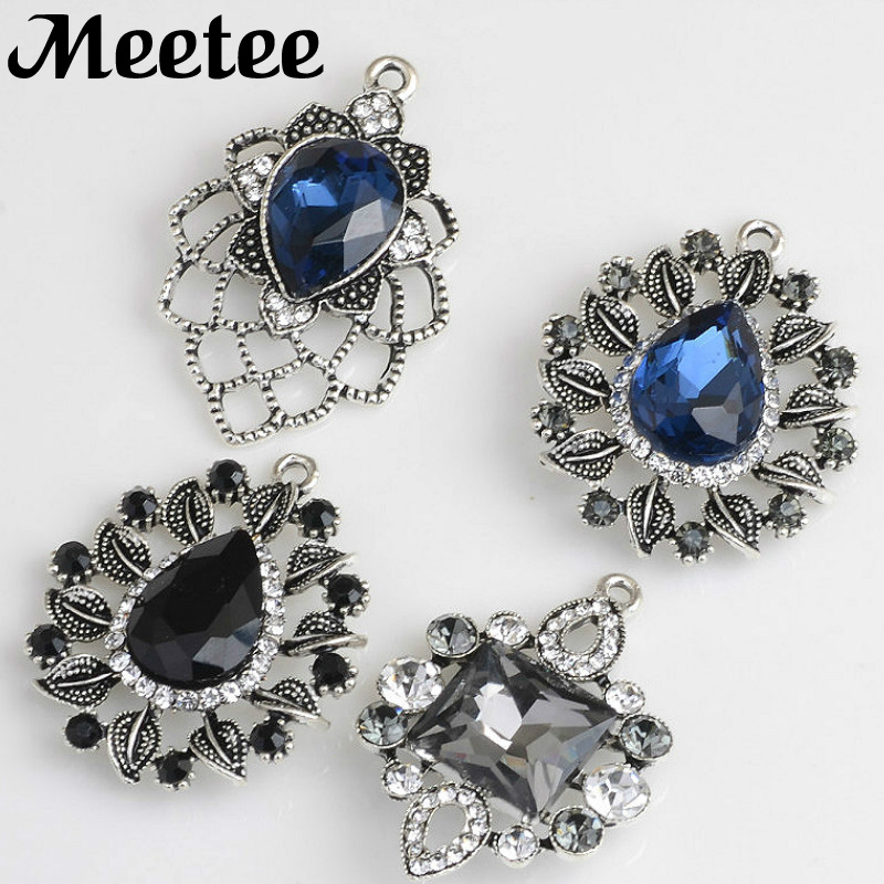 5X Retro Sew on Rhinestone Button For Clothes DIY Scrapbooking Craft Wedding Decor Buttons Hairclip Jewelry Accessories KY2094 in Buttons from Home Garden