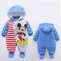 Baby Winter Romper 2016 New Brand High Quality Cartoon Cotton Thicken Warm Infant Bebe Jumpsuit Newborn