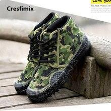Cresfimix male fashion plus size durable anti skid canvas shoes men soft & comfortable lace up high shoes man's cool shoes a2689
