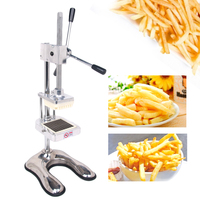 ITOP Vertical Potato Chip Cutter Potato Carrot Shredding Machine French Fries Cutter Vegetable Fruit Tools 8mm 10mm 12mm