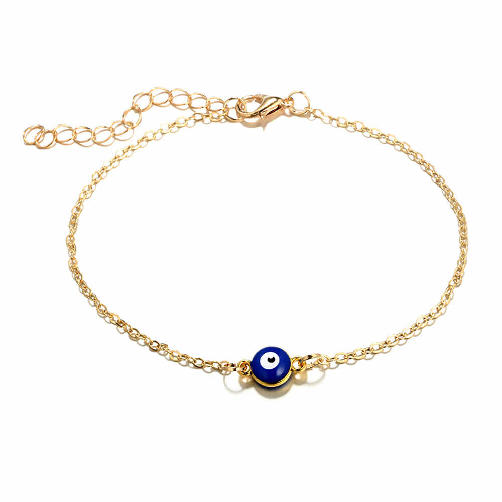 OTOKY Anklet Birth /Month Stone Women Lucky Stone Anklets Space Ball Cable Chain Stainless Steel Anklets Leg Bracelet 19May24
