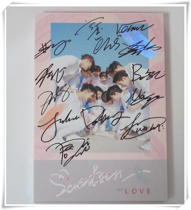 Seventeen с именной подписью 2016 1st Альбом первого Love & письмо CD любовь версии 05.2016