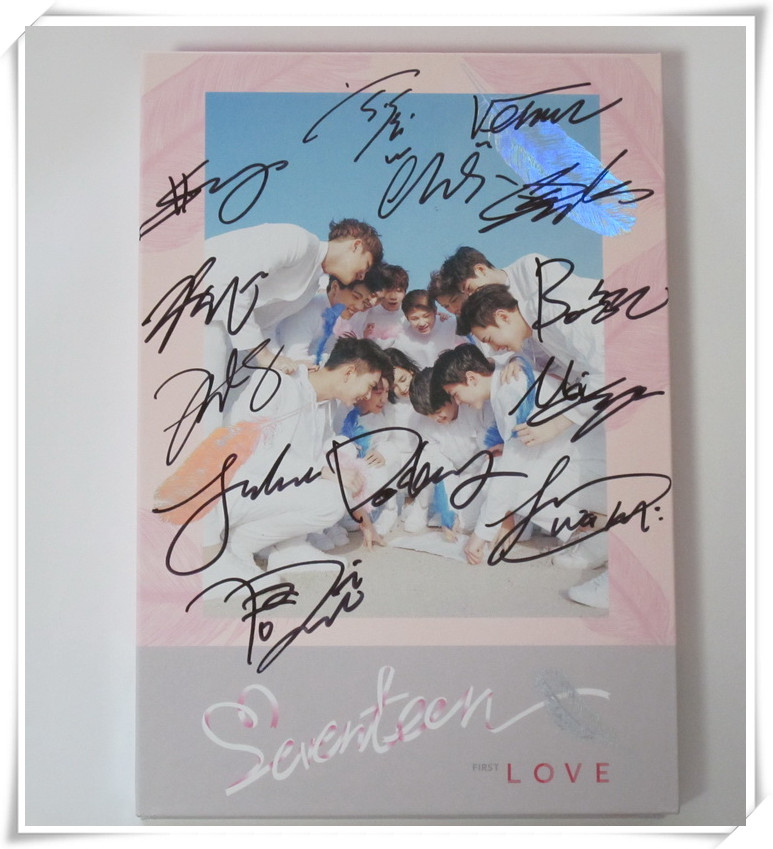 Seventeen autographed signed 2016 1st album FIRST Love