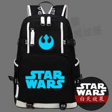 Лидер продаж Высококачественные Звездные Войны Рюкзак Женщины Сумки-холсты  световой мужчины школьный плеча Дорожные сумки cd3a6cb7969
