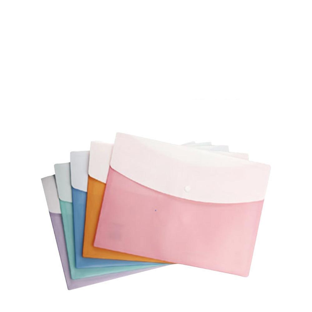 5pcs/Pack A4 Size File Folder Organ Bag A4 Organizer Paper Holder Document Folder Office School Supplies
