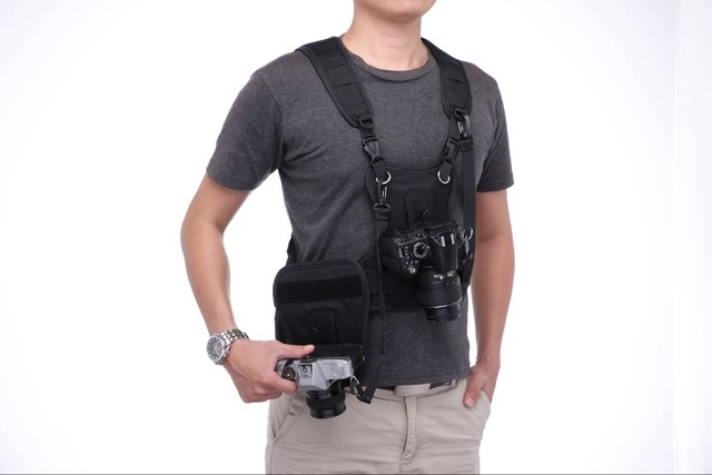 Camera Carrying Chest Harness System