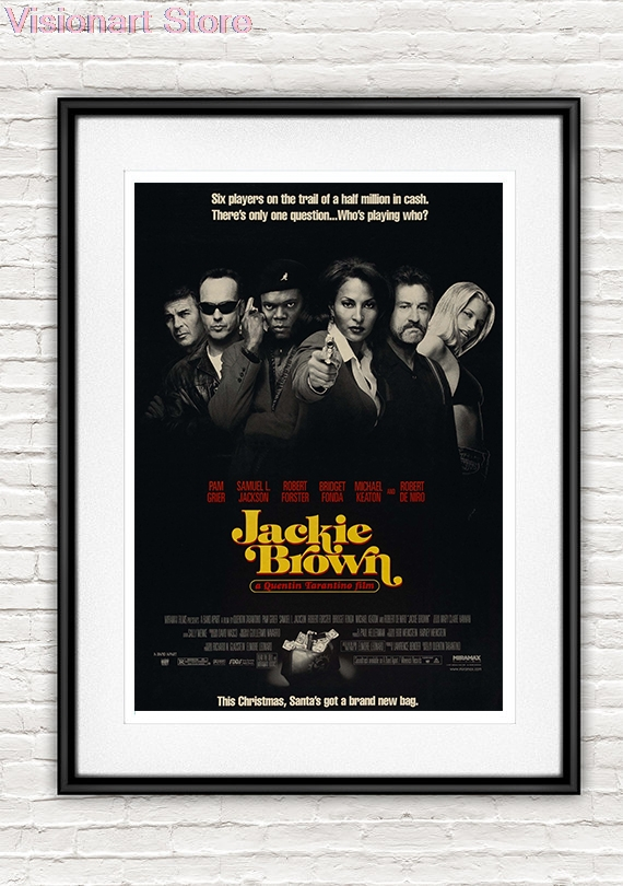 Jackie Brown Posters Movie Home Decor Quentin Tarantino Vintage Retro Wall Home Decor MO109 image