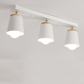 Lámpara de techo Simple y moderna ajuste dirección creativa LED dormitorio luces corredor Oficina estudio personalidad luz nórdica