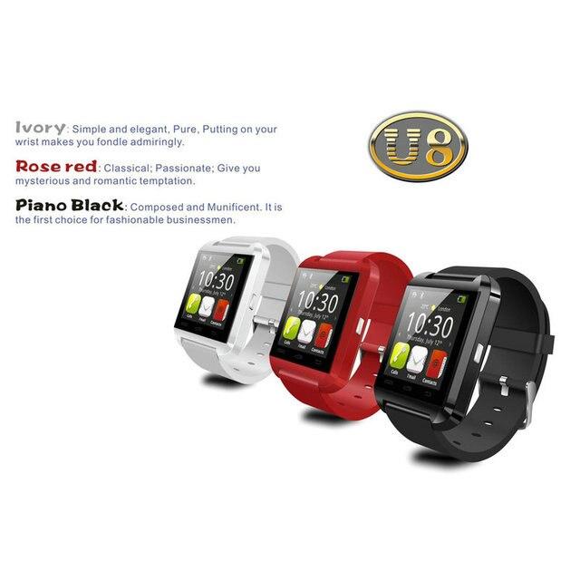 347b96c261e Bluetooth V3.0 + EDR Suporte 13 Idioma Do Telefone U8 Bluetooth Relógio  Para Android