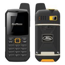 Guophone V1 Mobile Téléphone clavier Russe IP67 étanche antichoc soutien Interphone lampe de poche FM MP3 Talkie Walkie Téléphone Portable