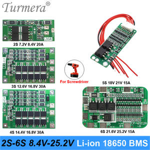Turmera Pcb-Bms-Protection-Board Battery Screwdriver Lipo 18650 Charger Cell-Module Li-Ion