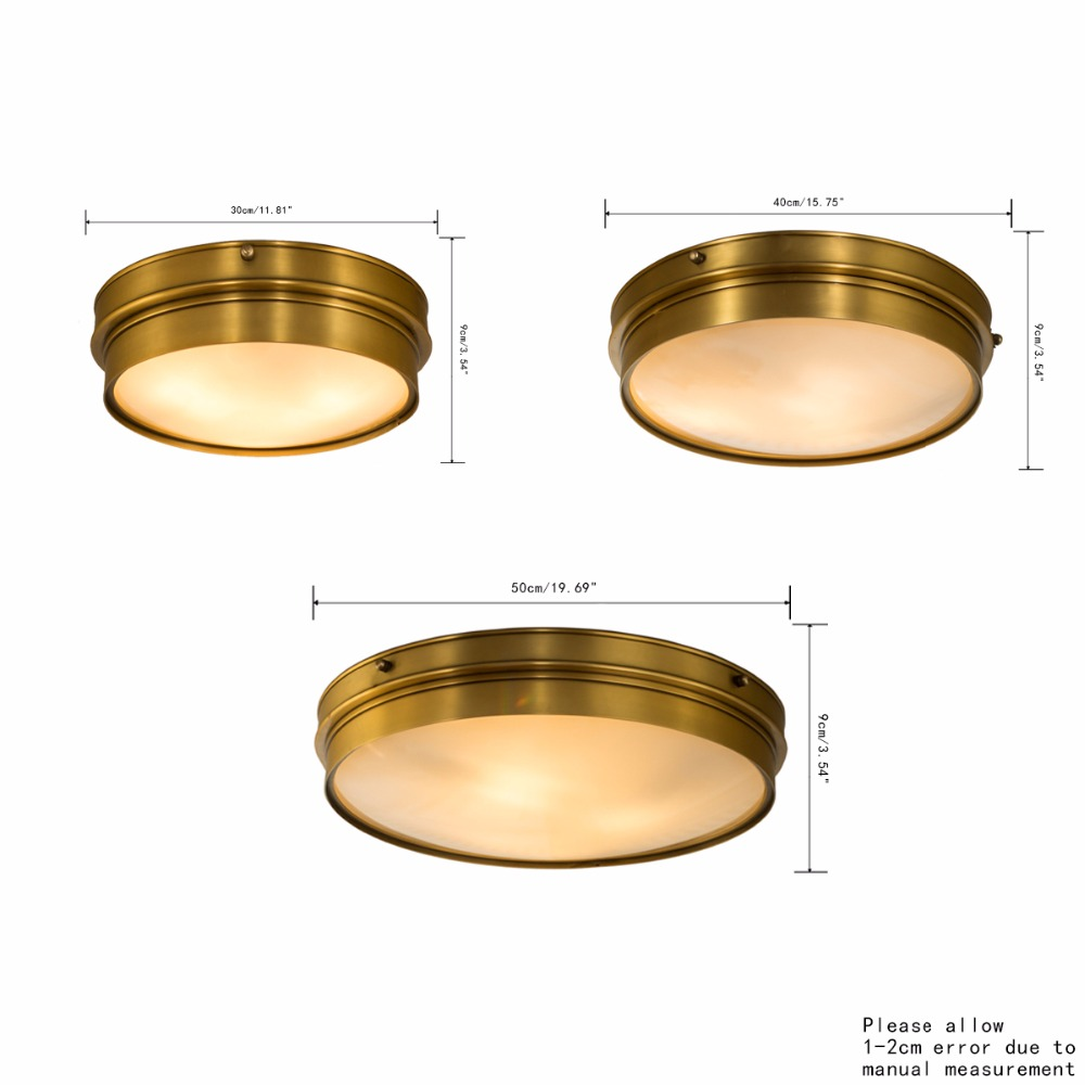 Sichere Deckenleuchte Moderne Deckenleuchten Reinem Kupfer Acryl Fr Schlafzimmer Lampen Wohnzimmer Kche Lampe Balkon