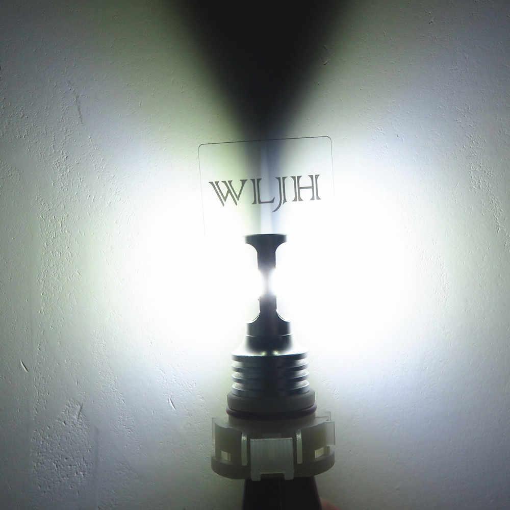 WLJH 2x 12V 24V High Bright Canbus PSX24W Fog Light LED Bulb 2504 led Daytime Running Lamp LEDs For Jeep wrangler subaru impreza