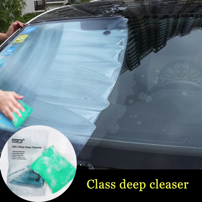 Car Scratch Remover Liquid Sponge Glass Deep Cleanser Car Glass Cleaning Sponge Glass Remove Oil Film car styling(China)