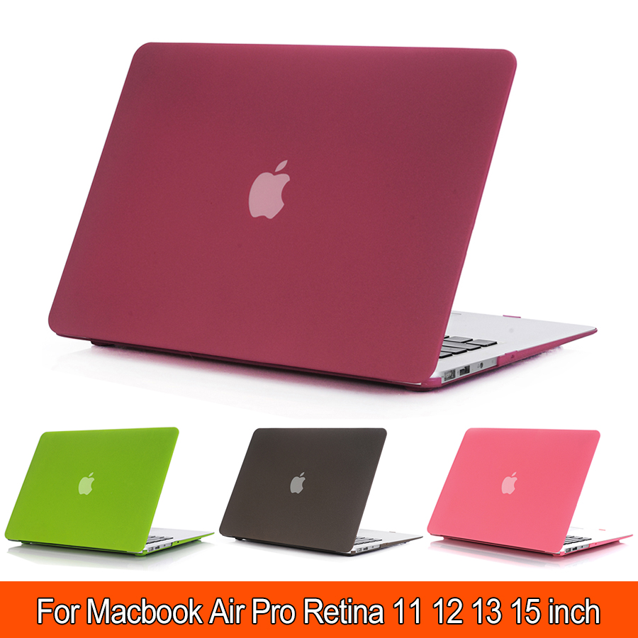 Scrub Shell For Macbook air 13 case Hard Case For Apple Macbook Pro 13 Air 11 13 15 Retina laptop bag For Macbook Pro 13 case