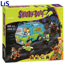 Lis Bela 10430 Scooby Doo Mystery Machine Bus Building Block Mini Toys with lepin 75902 Christmas