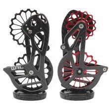 自転車カーボン繊維セラミックリアディレイラー 17T プーリーガイドホイールシマノ 6800 R7000 R8000 R9100 R9000 自転車アクセサリー
