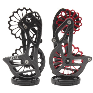 Image 1 - Bicycle carbon fiber ceramic rear derailleur 17T pulley Guide Wheel for Shimano 6800 R7000 R8000 R9100 R9000 bicycle accessories