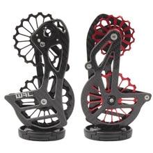 Fiets carbon keramische achterderailleur 17T katrol Gids Wiel voor Shimano 6800 R7000 R8000 R9100 R9000 fiets accessoires