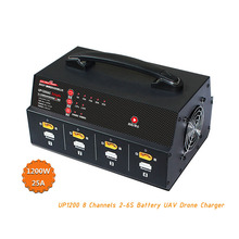 ULTRA POWER UP1200 1200W 25A 8 Kanäle 2 6S Batterie UAV Drone Ladegerät
