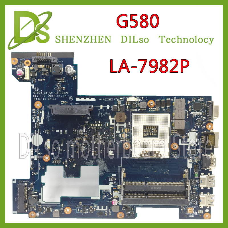все цены на  SHUOHU LA-7982P for Lenovo original G580 laptop Motherboard QIWG5 LA-7982P Rev:1.0 Notebook 100% tested motherboard GM  онлайн