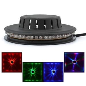 Image 4 - Mini 48 LEDs 8W RGB Sonnenblumen Laser Projektor Beleuchtung Disco Bühne Licht Bar DJ Sound Hintergrund Wand Licht Weihnachten partei Lampe
